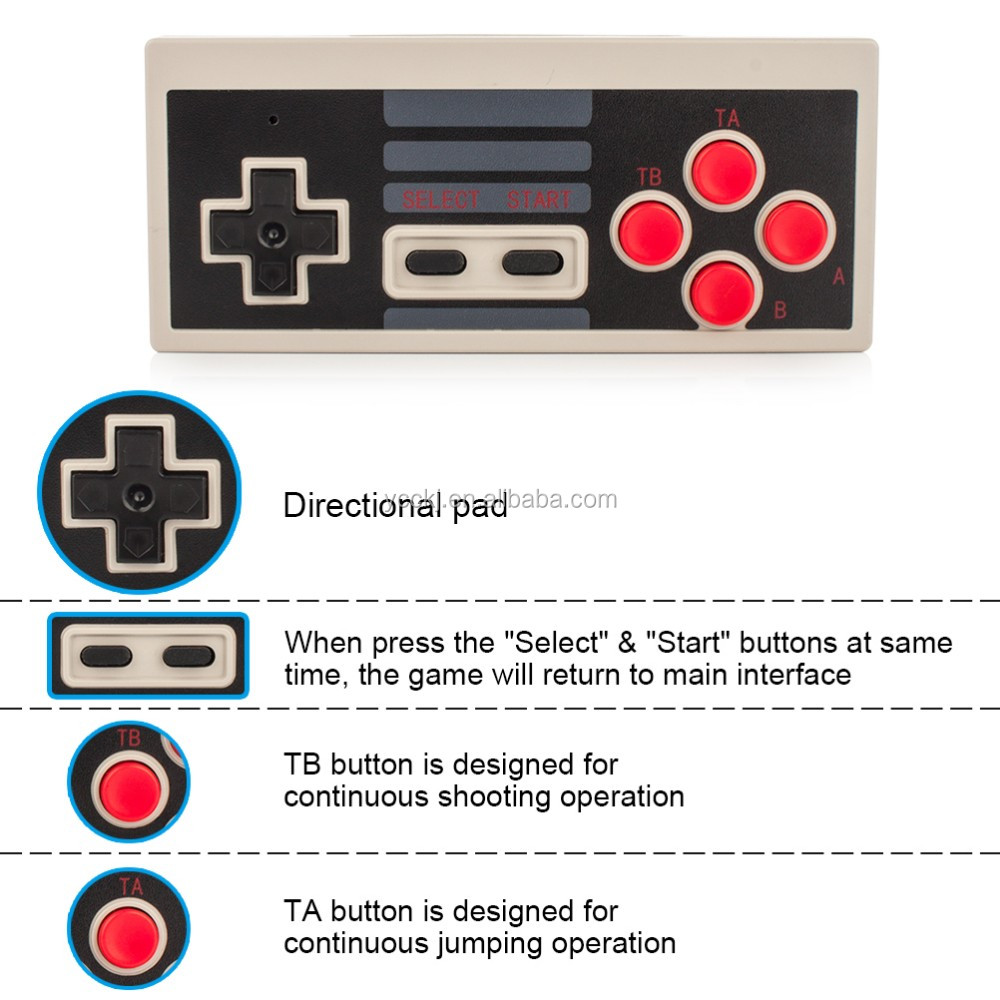 Wireless Gamepad Controller for Nintendo NES Classic Edition Mini Console 2.4G Wireless controller
