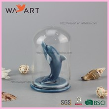 Fashion Blue Dolphin Shaped Ceramic Hotel Wall Decor