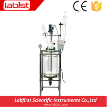 2016 Hot sale Jacketed Reactor Glass reaction kettle