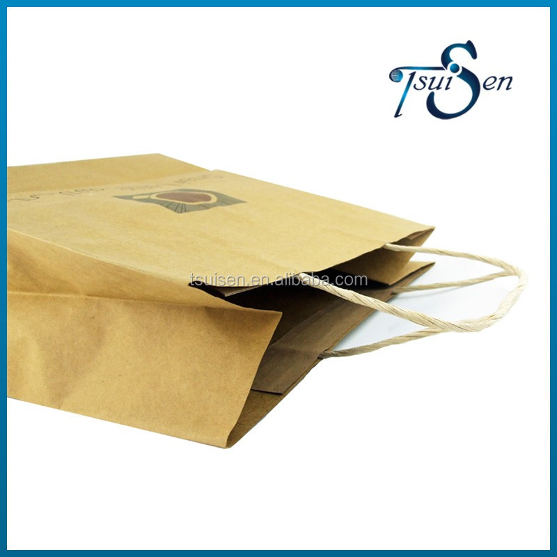 Alibaba atacado personalizado de alta qualidade saco de papel kraft branco e marrom
