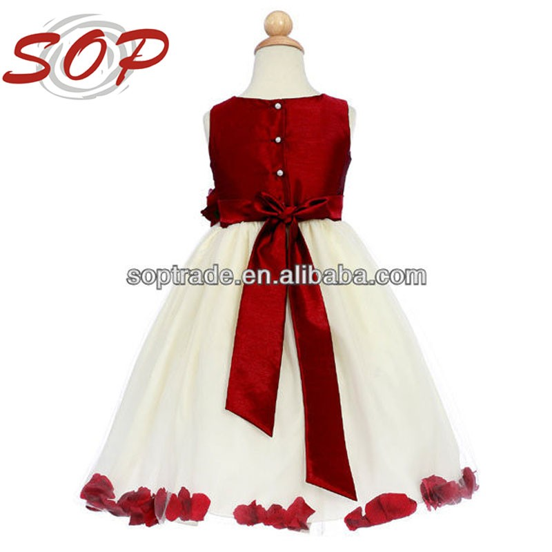 Latest Dress Designs Of Ball Gowns Satin Long 6 Years Children Fashion Frock For 2016