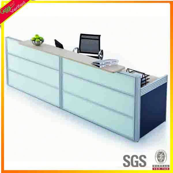 Elegance cash counter with conveyor belt front counters table