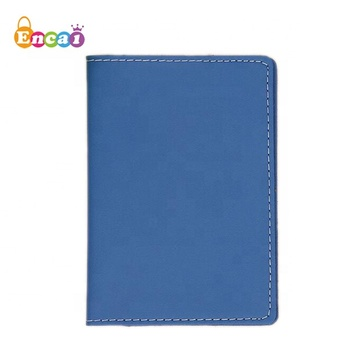 Encai New Design Litchi PU Passport Cover Embossed Logo Passport Case Travel Tickets Cards Passport Holder