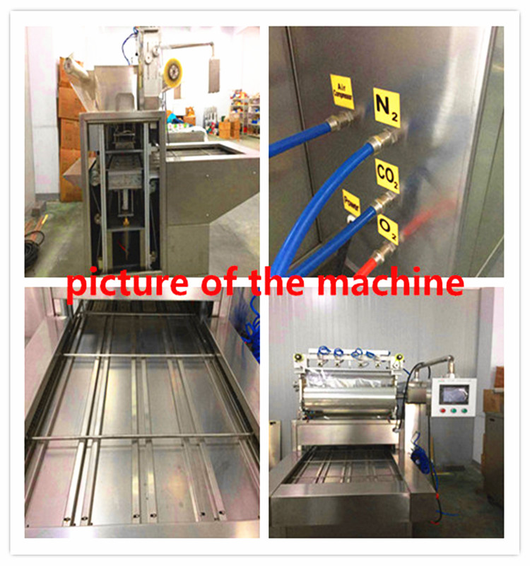 full automatic plastic bowl sealing machine with MAP function
