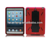 New arrival Hybrid Pc Silicone Stand Case for ipad Mini Back Cover