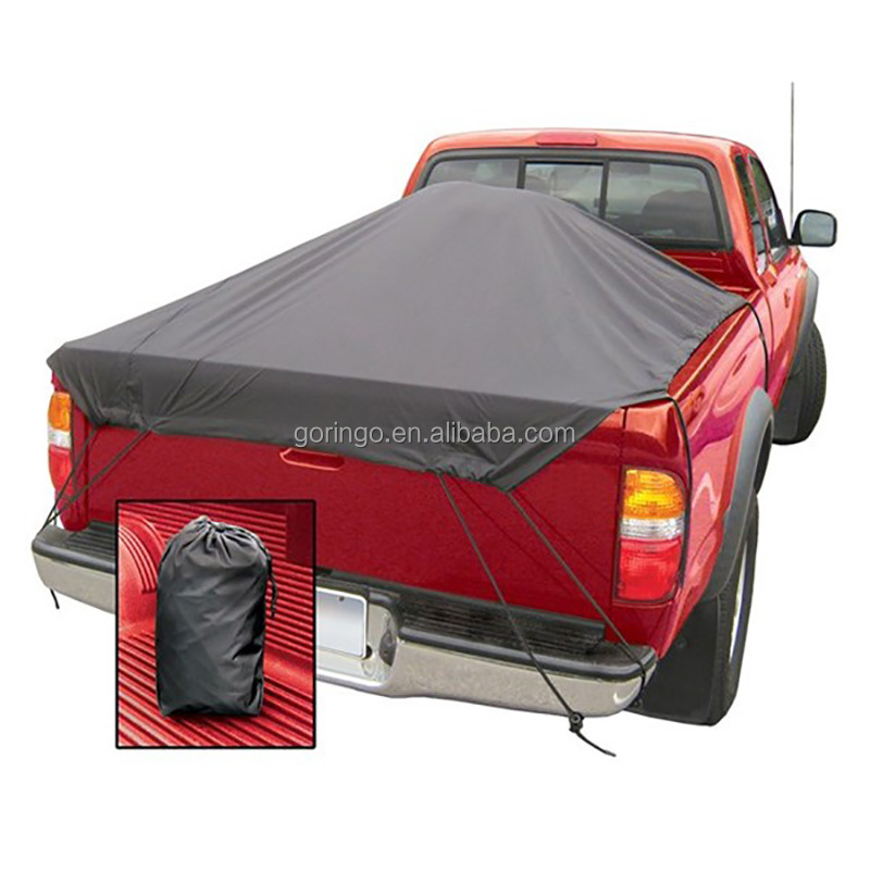 Adjustable Soft Tonneau Cover with C Hook for Pickup Truck Beds without Metal Frame