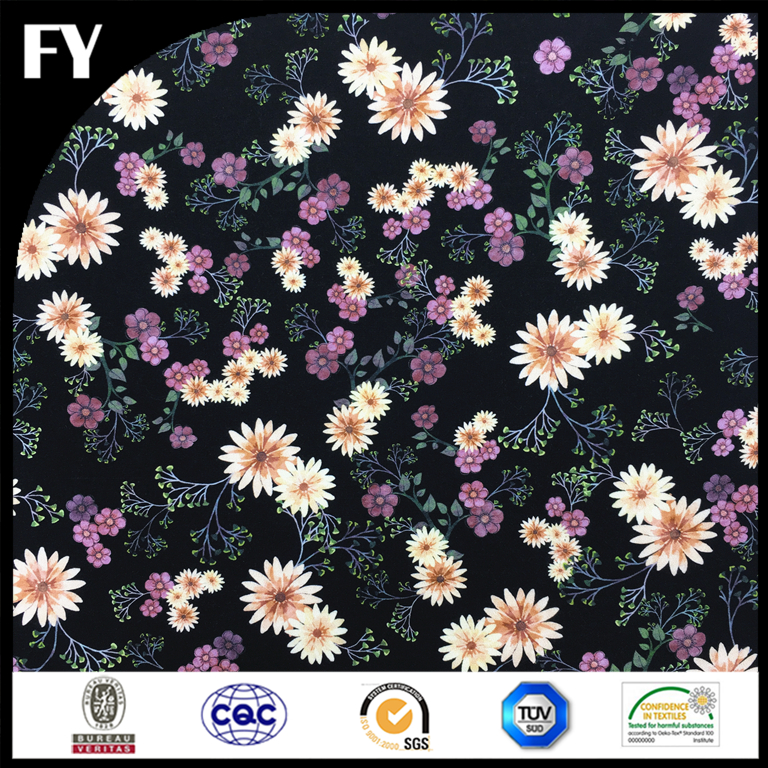 Chinese Factory Custom 100 rayon spandex jersey printed knitted fabric