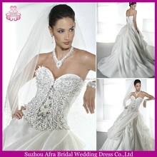 SD1030 egypt wedding dress puffy princess ball gown wedding dress with sweetheart neckline