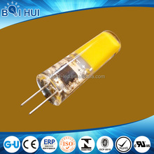 Best selling factory manufacturing 2w g4 led cob 12v in led bulb lights, led g4 cob applicated in any case