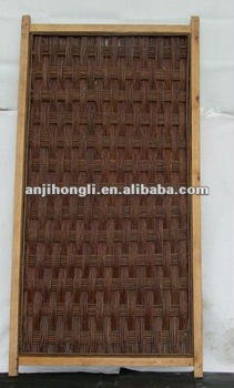 Natural Wood Frame Willow Border Fence Fencing Screen