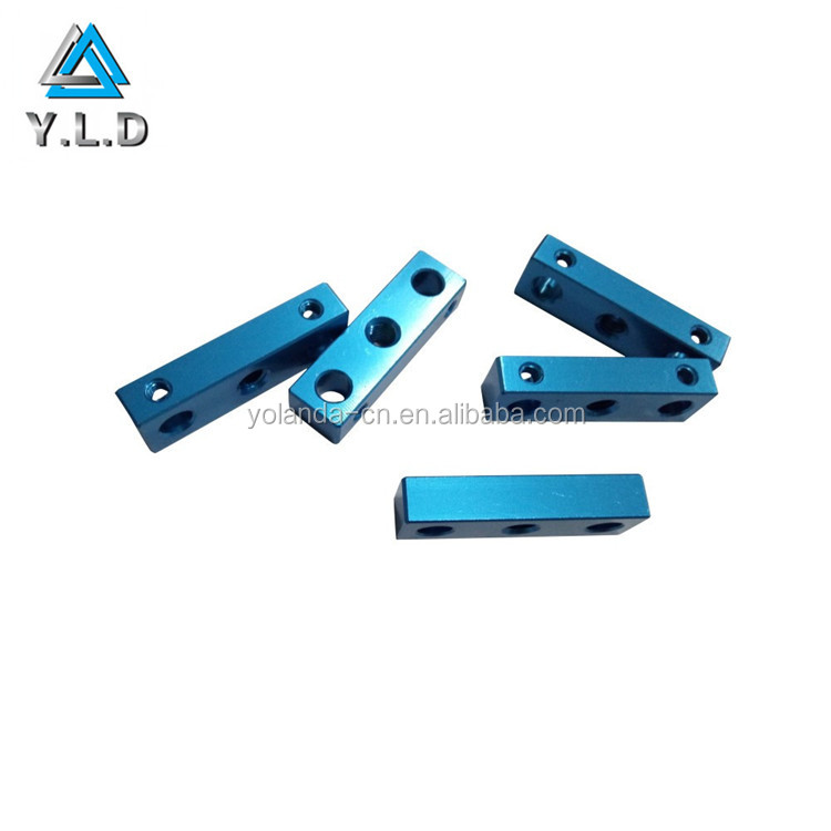 Custom CNC Machining Blue Anodized Drilled Holes Aluminum Milling Components For Detector