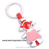 hot sales new custom child metal cartoon girl key chain (BBK10798)