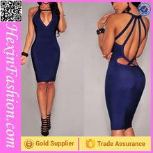 Erotic Blue Cheap Sexy Bodycon Dresses Wholesale