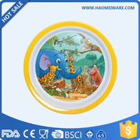 SGS FDA CE LFGB DGCCRF REACH ROHS Compliant kids melamine plate for whole plates