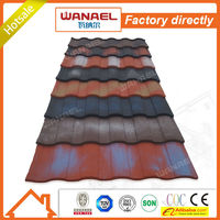 Roman Wanael colorful sand coated roof tile sheet metal price/natural stone tiles/building materials guangzhou