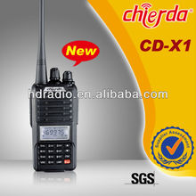 Handy two way radio interphone transmitter with lcd display