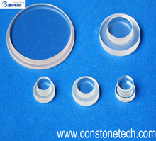 Optical step sapphire components with polished surface