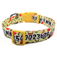 Manufacture custom various polyester decorative dog collar