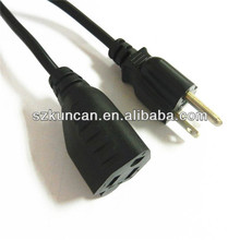 USA 3Prong Laptop power cords with molded plug