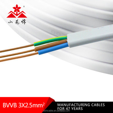 BVVB pvc insulated copper core flat cable wire power cable with 2.5mm electric cable 3 core 2.5mm flexible wire power electrical