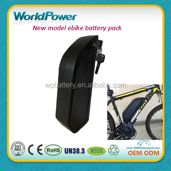 New model frame mounted electric bicycle 36V 10.4Ah battery pack 110s4p