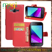 Leather Phone PU Case for Samsung J1 Mini Prime SM-J106 Ultra thin PU wallet case