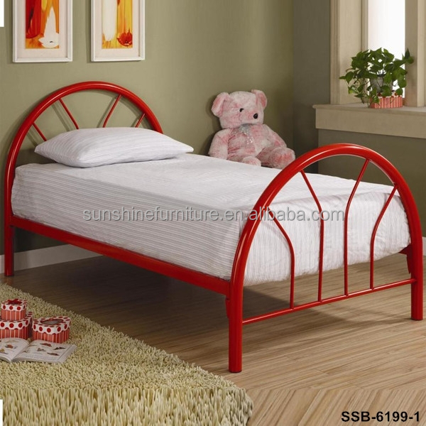 home bedroom furniture singletwin size whiteblackbluepink kids metal bed frame buy kids metal bed framemetal bed framebed frame product on alibaba - Metal Bed Frames Twin