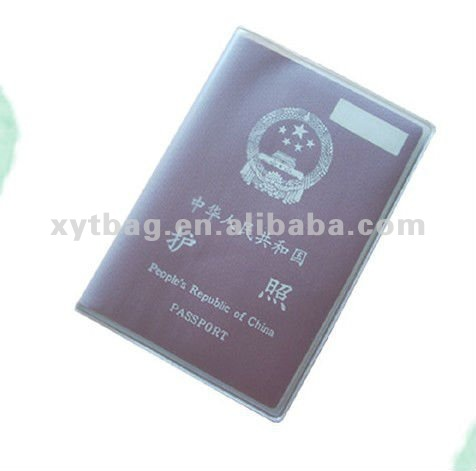 Transparent PVC passport cover for holding passport