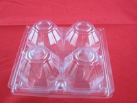 Soft plastic custom disposable plastic egg tray