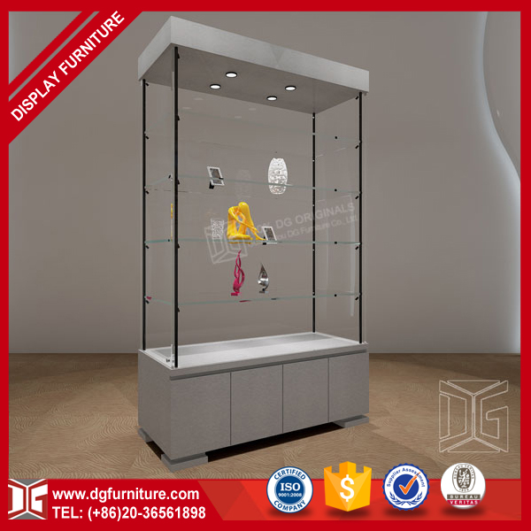 High End New Wooden Glass Tower Museum Display Cases