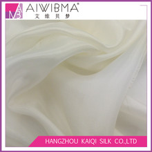 4mm, 4.2mm, 6mm wholesale dyed, PFD white solid color pure silk paj chiffon habotai fabric for wedding dress,garment and scarves