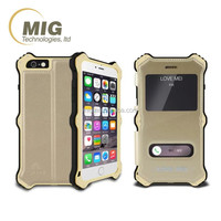 Cell phone case Love Mei for iphone 6 removable leather AL metal shockproof silicone waterproof for apple iphone 6