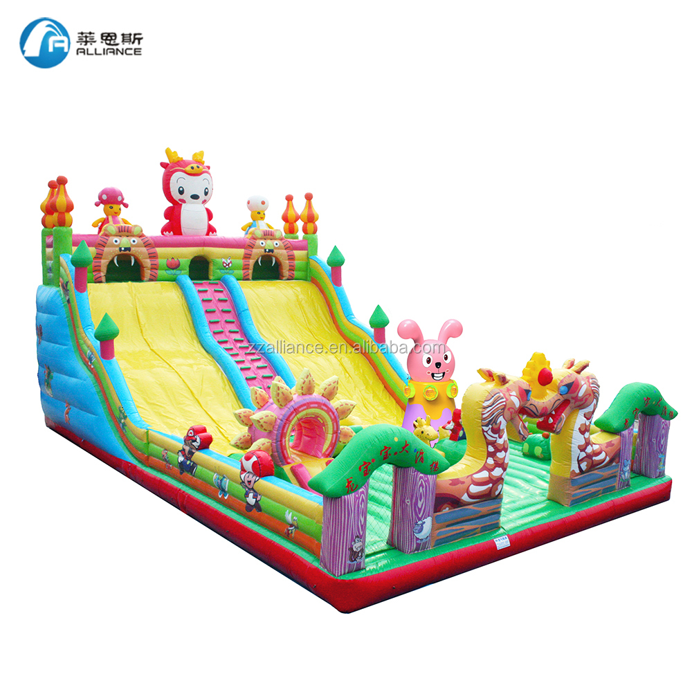 outdoor slide equipment 16x9m Dragon Baby giant inflatable slide