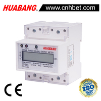 single phase din rail RS485 V A KW COS HZ electricity meter
