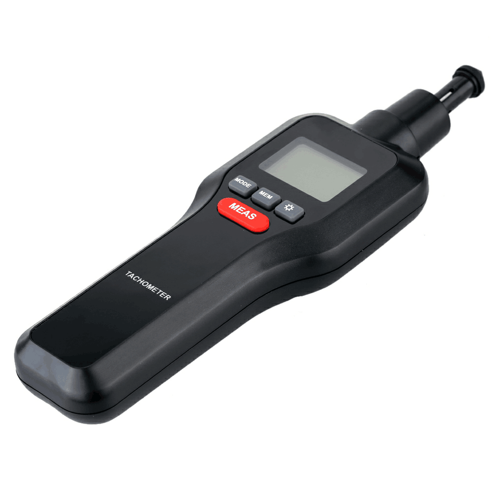 HT-522 50-19999RPM Contact Measurement Digital Tachometer With 100 Groups Data Logging, Data Hold, Max/Min/AVG, Backlight