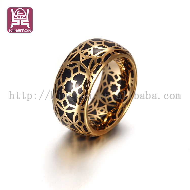 2 gram gold enamel ring in stainless steel jewelry buy