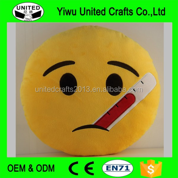 Creative New Design Plush Round Emoji Pillow Stylish Cheap Wholesale Plush Emoji Pillows