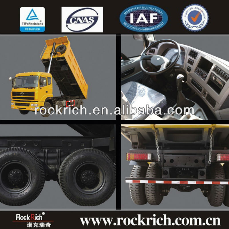 Good price 26.5m3/12-wheel tipper dumper lorry with 50T/Cummins 375hp used in construction site