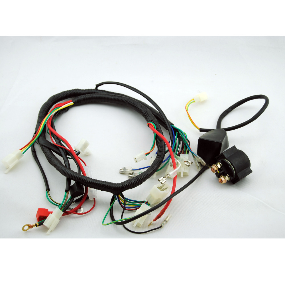 Get Quotations · 250CC+SOLENOID QUAD WIRING HARNESS 200 250cc Chinese  Electric start Loncin zongshen ducar Lifan free