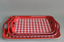 Set Of 3 Piece Melamine Serving Tray With Handle