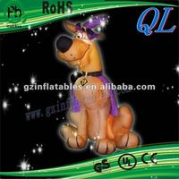 2012 (QI Ling) funny inflatable halloween dog decoration