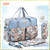 Durable Outdoor Portable Canvas Baby Diaper Bag Set