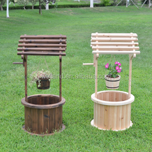 Decorative Wishing Well with Small Flower Pot