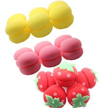 Fashion DIY Sleeping colorful sponge ball for hair curling hair marcarons