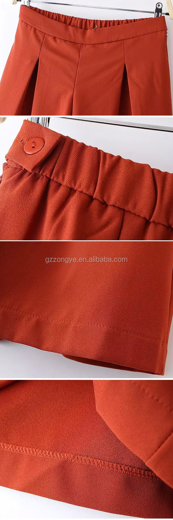 High quality Dongfan women's red wide leg red pants