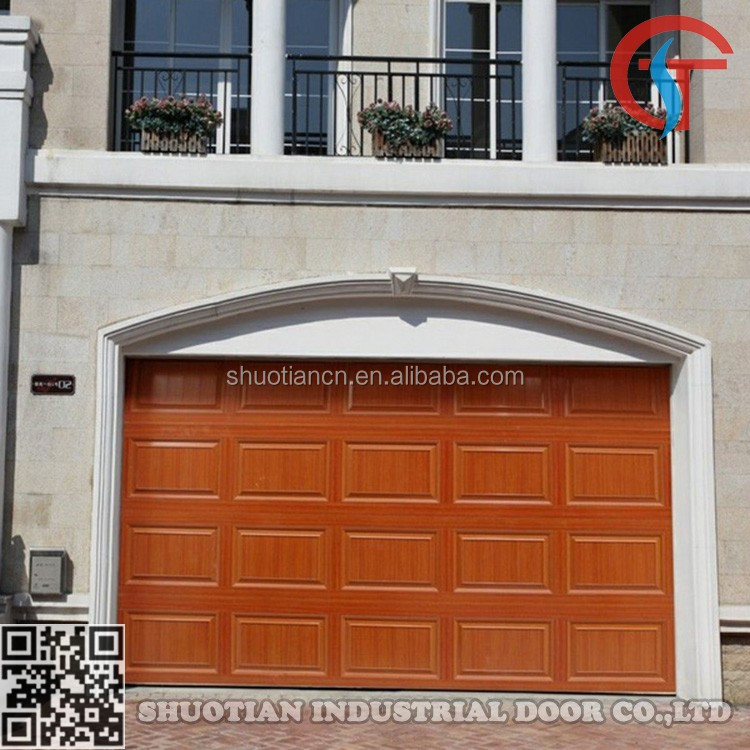 Remote control automatic garage doors with pedestrian door