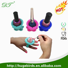 Creative Design Wearable Nail Polish Bottle Ring Holder