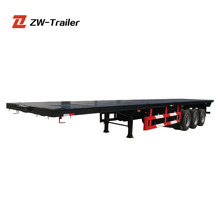 60 ton widely used 53ft trailers container 3 axle flatbed trailer