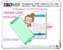 SHOW LOVE --- mini led display Centro Phone case, Cool mobile phone shell, caller ID with Bluetooth