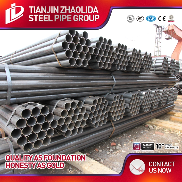 scheduld 40 black steel pipe erw welded steel tube samples price list